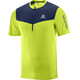 Salomon M's Fast Wing Half Zip SS Tee acid lime/dress blue